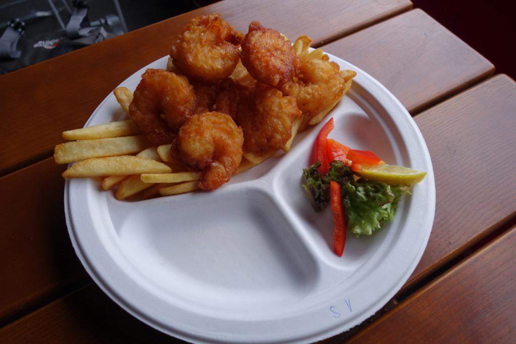 Hančiny krevety v úpravě fish'n'chips