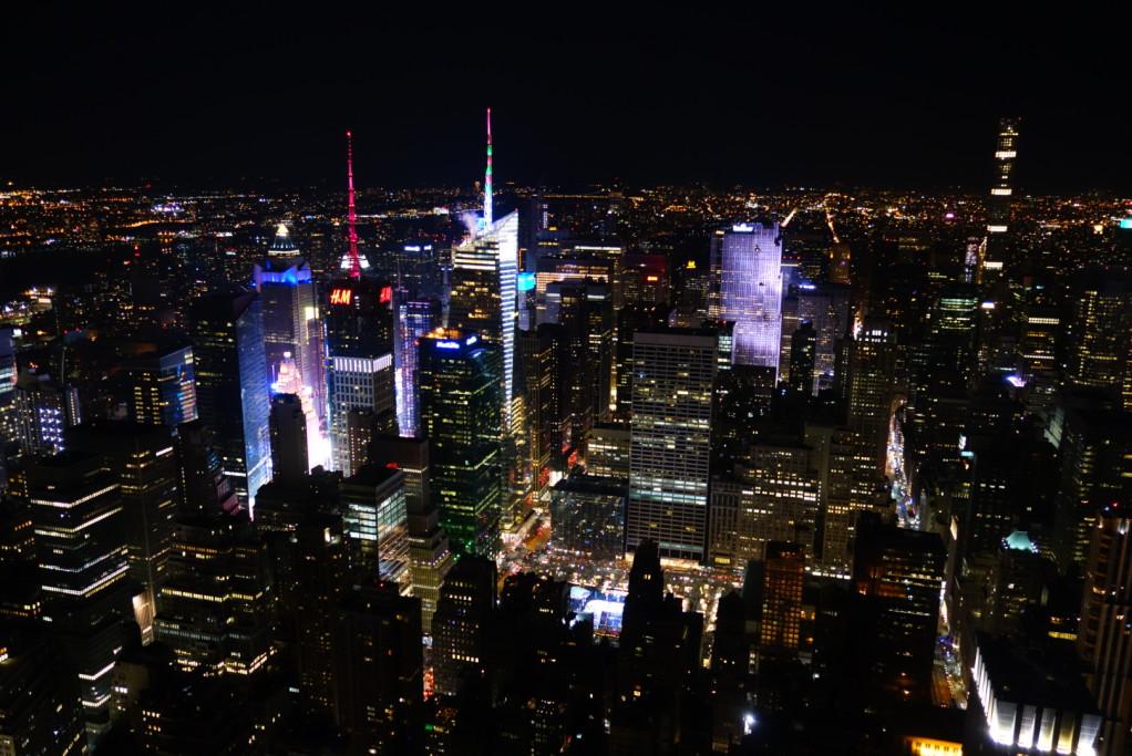 Shluk paneláků kolem Times Square